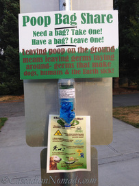 DIY Community Poop Bag Share Station at our neighborhood park #ScoopThatPoop