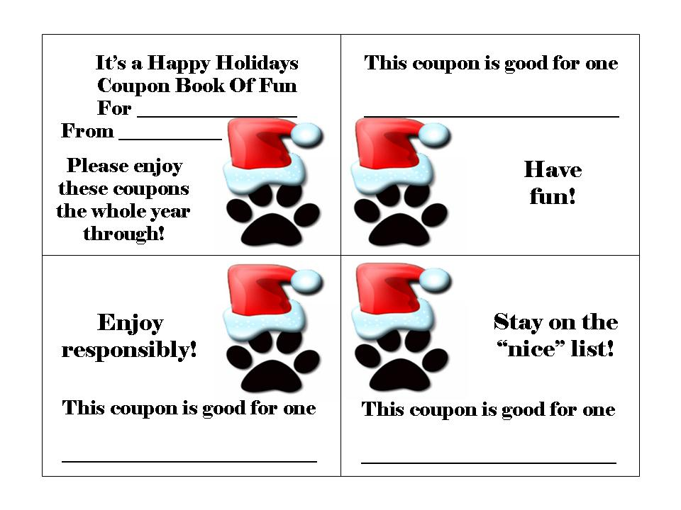 Holiday Coupn Book for Dogs