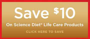 Save $10 On Science Diet Life Care Products
