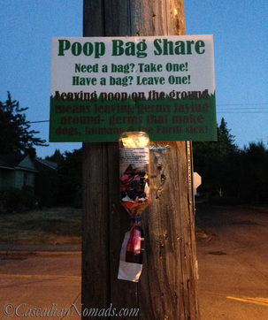 DIY Neighborhood Poop Bag Share Station Made Better By BuildASign.com | #ScoopThatPoop