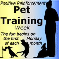 Positive Reinforcement Pet Training Week Badge